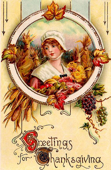 Vintage Thanksgiving Postcard from TwistedPapers.com