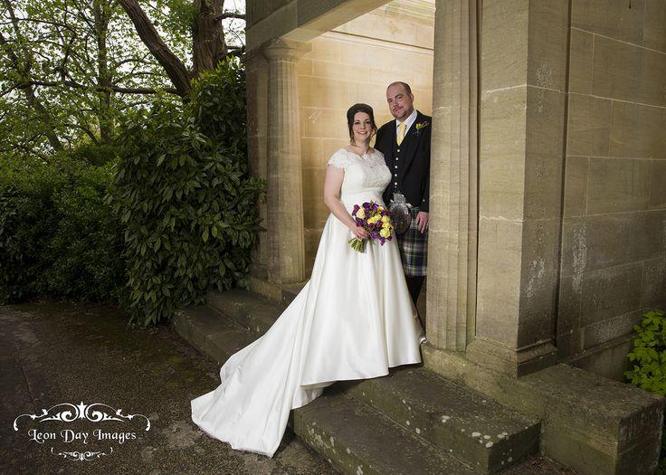Bride & Groom at the Temple at the Macdonald Bath Spa Hotel. #bride #groom #wedding #bathspahotel #temple