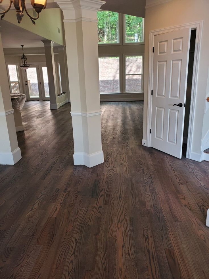 Red oak sanded stained aged barel duraseal water based