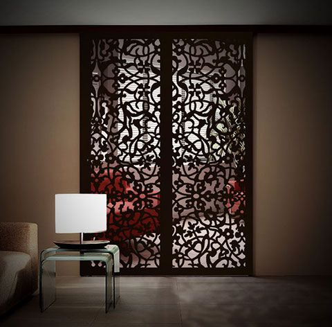 Middle Eastern Arabesque Soggiorno Doors Metal Wall