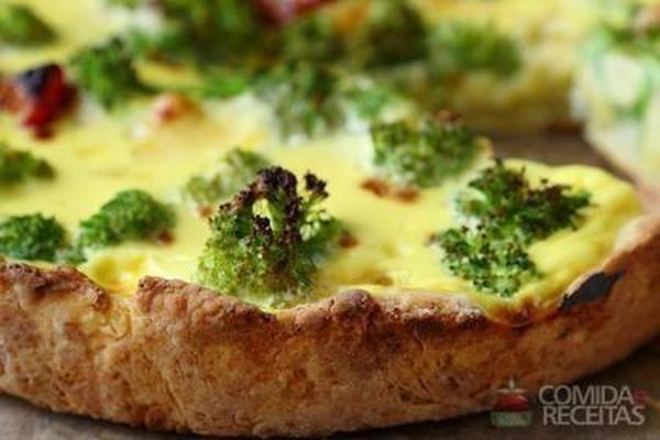 Receita de Quiche de queijo com brócolis - Comida e Receitas