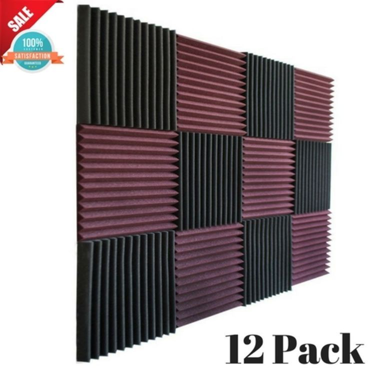 Music Room Acoustic Wall Panels Sound Proofing Foam Pads Studio Wedge Decor 12pc Acoustic Wall Panels Acoustic Panels Acoustic Wall