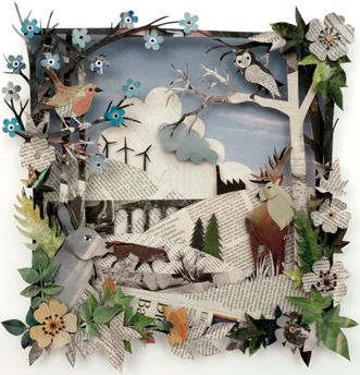 oh la la, these multi-layered paper art creations from Helen Musselwhite are gorgeous!