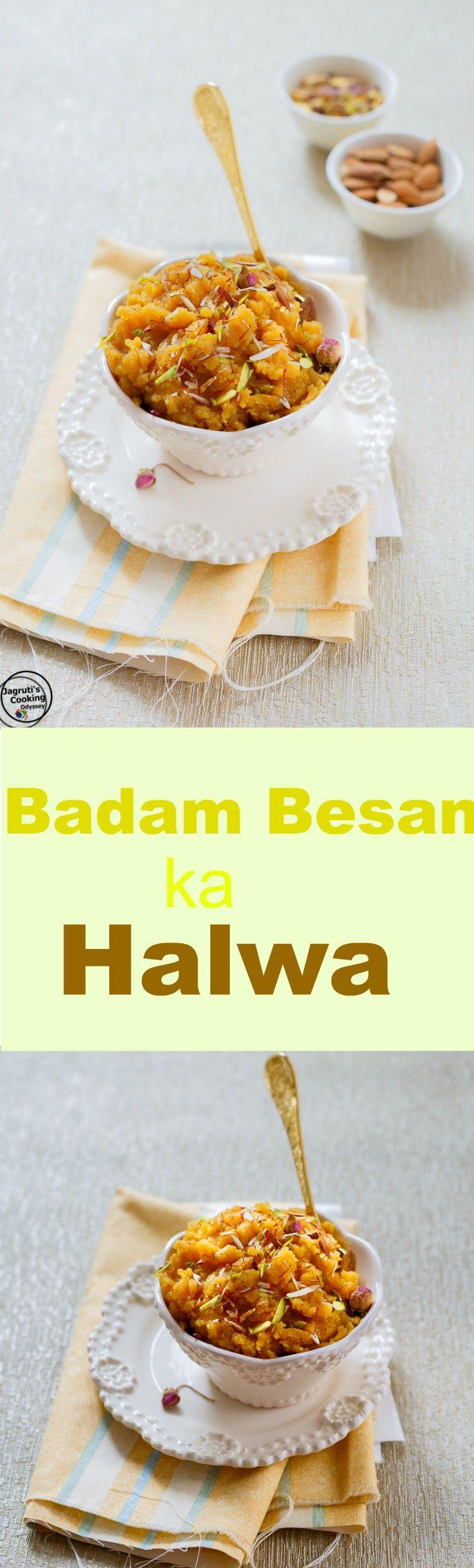 Badam Besan ka Halwa-Almond and Chickpea flour Pudding