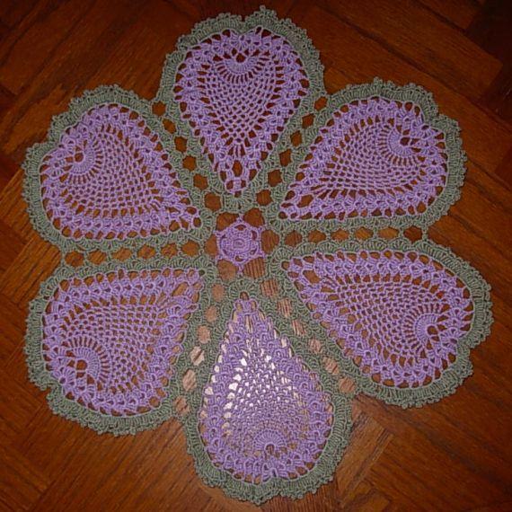 free crochet doily  patterns | Free Pineapple Blossoms Doily Pattern – FREE Crochet Patterns