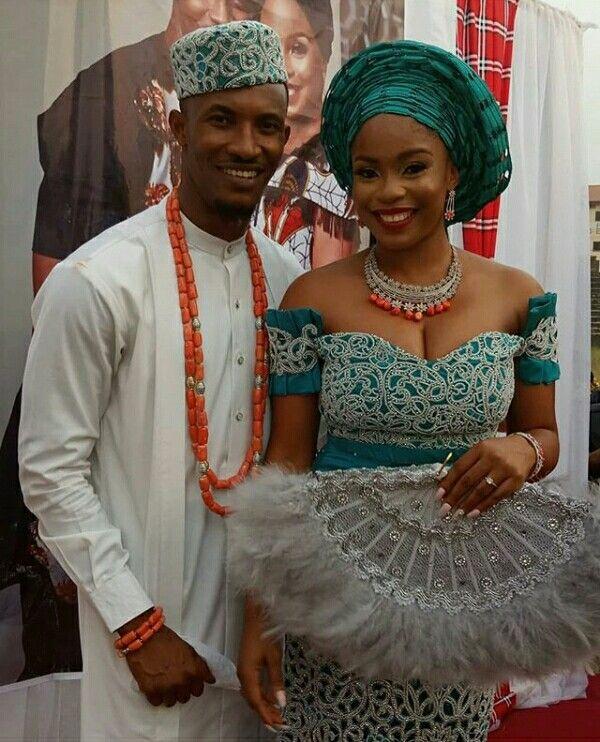 Gideon Okeke And Wife In Igbo Traditional Wedding Attire African Traditional Wedding Dress Igbo Traditional Wedding Traditional Wedding Attire