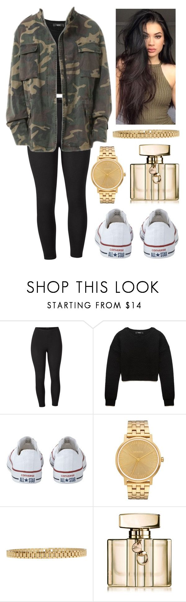 """629"" by francescas22 on Polyvore featuring Venus, Forever 21, Converse, Nixon, AMBUSH, Gucci and plus size clothing"