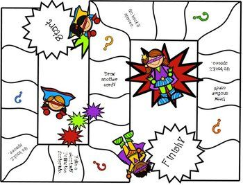 Super Heroes {Game Boards}