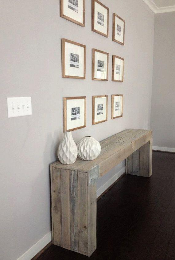 Modern Reclaimed Wood Console Table/ Sofa Table by RAKAMod on Etsy