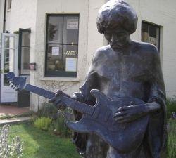 statue of  Legend Jimi Hendrix.