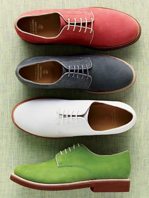 brooks brothers shoes in fun colors...