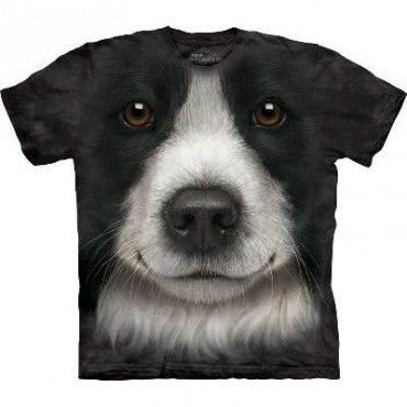 Border Collie Big Face Kids Mountain T Shirt - yourgifthouse