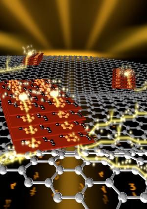 Semiconductor works better when hitched to grapheme - Graphene – a one-atom-thick sheet of carbon with highly desirable electrical properties, flexibility and strength – shows great promise for future electronics, advanced solar cells, protective coat...