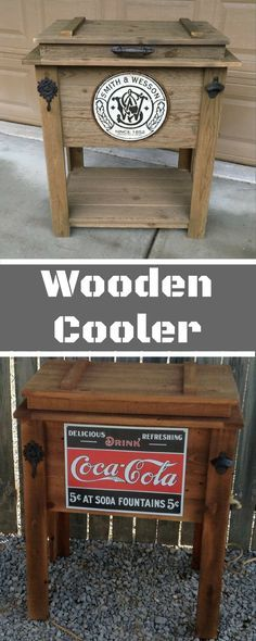 Rustic Wooden Cooler is Great for a Man Cave, Outdoor Bar Cart or Ice Chest. It even has a beer bottle opener #homedecor #homedesign #commissionlink #homedecoration #homedecorideas #homesweethome #homestyle #country #farmhouse #farmhousestyle #farmhousedecor #rusticdecor