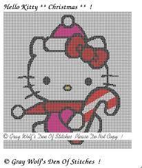 23 best Punto de cruz  Hello Kitty images on Pinterest  Cross