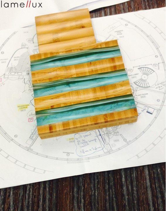 Lamellux Gamme Quertec & LxResin turquoise  #lamellux #quertec #lxresin #luxe #metiersdarts #madeinfrance #ebenisterie #architecture #architecturedinterieur #agencement #craftmanship #luxury #design #interior #interiordesign #woodwork #bespoke