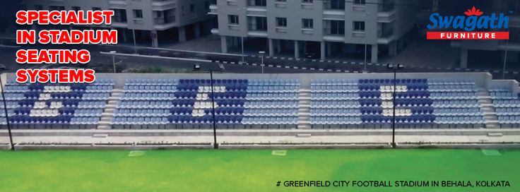 The #seating arrangement system at Greenfield City Football Stadium in Behala, Kolkata is done by the specialist – Swagath. Get more details at www.swagath.co !!