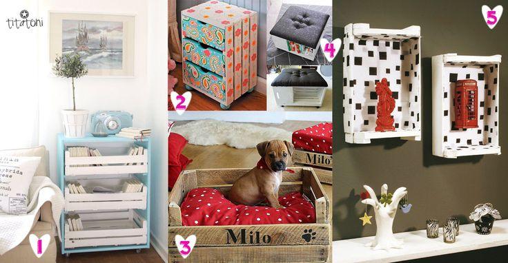 Upcycled Home Decor Decora O Com Reciclagem M Veis De Caixotes De Feira Diy Decor Pinterest