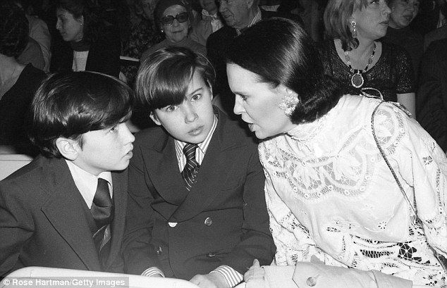 Family time: Brothers Carter Cooper and Anderson Cooper with their mother, socialite Gloria Vanderbilt at the Plaza Hotel in 1979 in New York City, New York