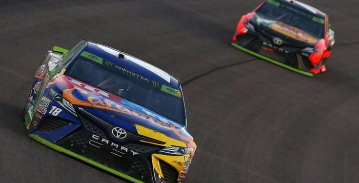 Kyle Busch & Martin Truex Jr at Homestead 2017 NASCAR Monster Energy Cup Series Playoffs Championship