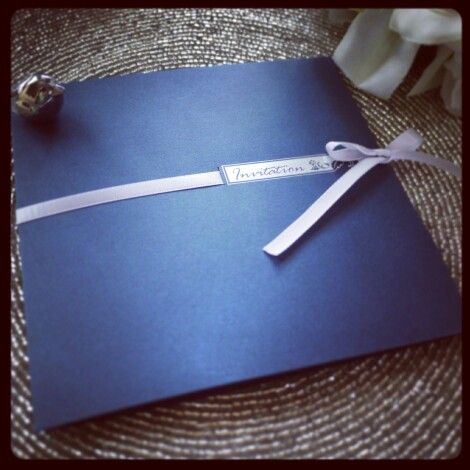 Need soothing blue? How about this invitation?