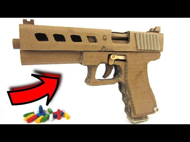 شاهد كيف تصنع مسدس من الكرتون Guns Hand Guns