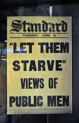 "Museum of London - Suffragettes ""Let them Starve"" - hard to believe in this day and age!"