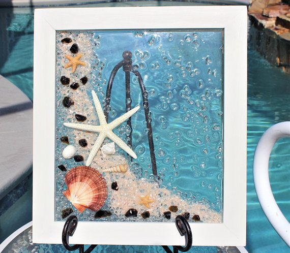 Sea Glass Art Framed Coastal Living Wall Art Beach Wall Art Beach House Wall Art Sea Glass Art Window Beach House Wall Art Sea Glass Art Coastal Wall Art