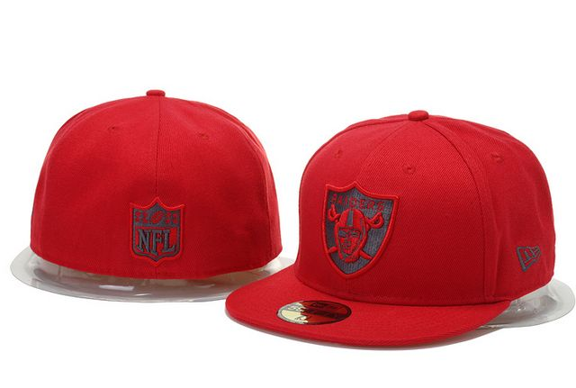 Oakland Raiders Hats New Era NFL Pop Gray Basic 59FIFTY Cap Red