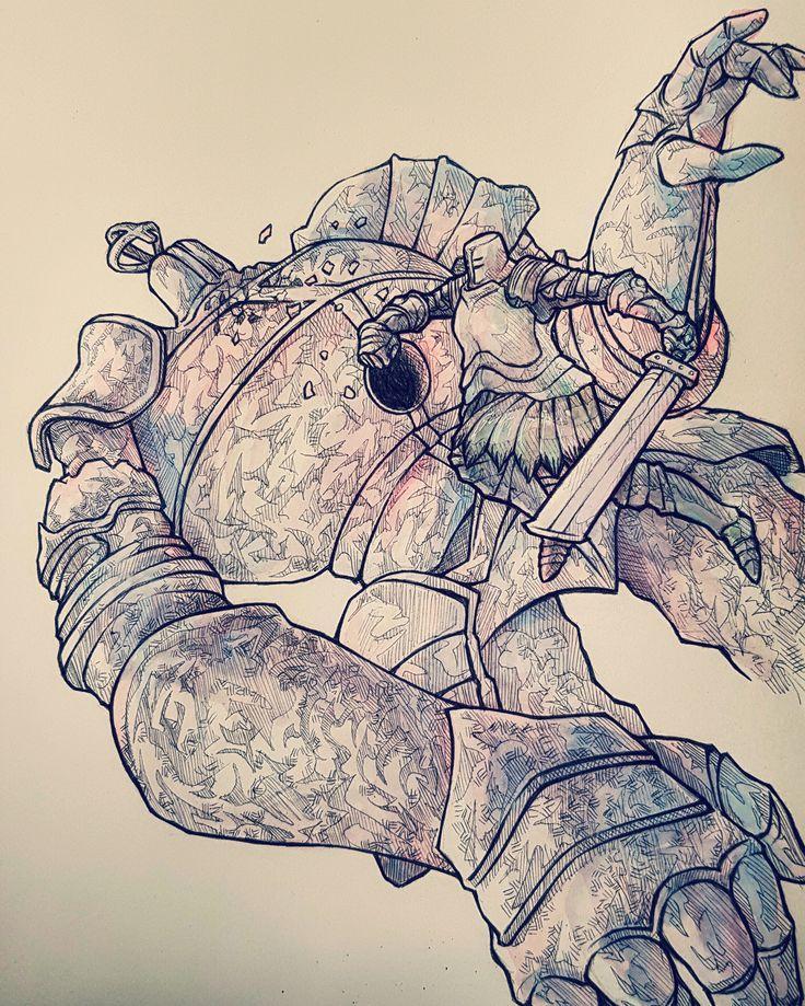 It's Dark Souls 1's birthday today, I drew (almost) all the Dark Souls Bosses - Album on Imgur