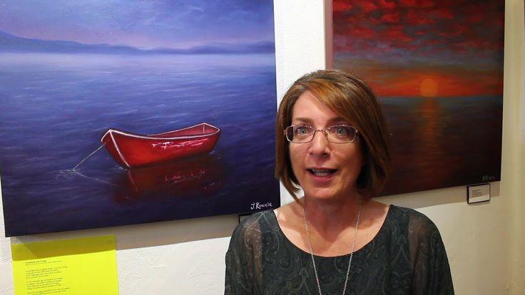 Johanne Kourie à la Galerie mp tresart le 4 novembre 2017