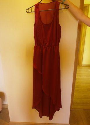Kup mój przedmiot na #vintedpl http://www.vinted.pl/damska-odziez/dlugie-sukienki/10040777-bordowa-sukienka-stradivarius-asymetryczna-rozmiar-36