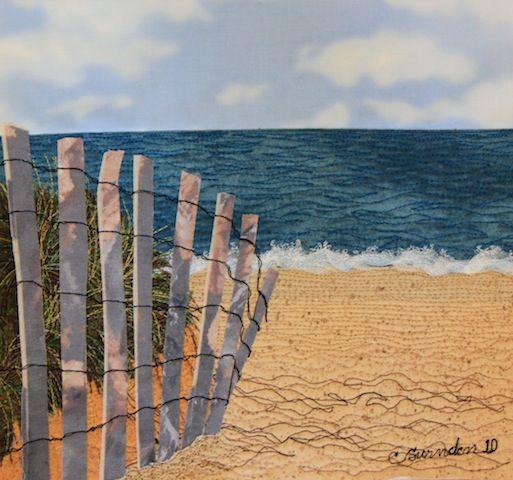 Cavendish Beach, Prince Edward Island quilt by Carol Swinden