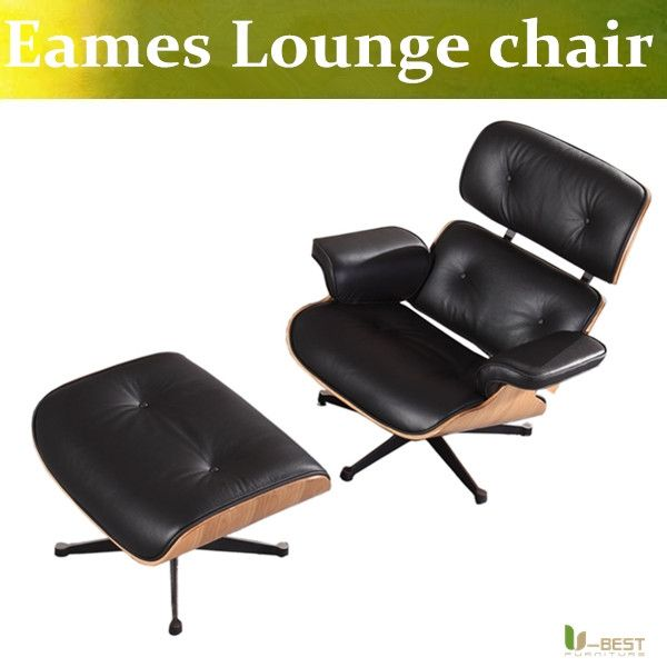 450.00$  Buy here - http://aliiwq.worldwells.pw/go.php?t=32699370401 - U-BEST charles emes lounge chair and ottoman Midcentury Modern Solid Walnut Lounge Chair massage relax chair healthy arm chair