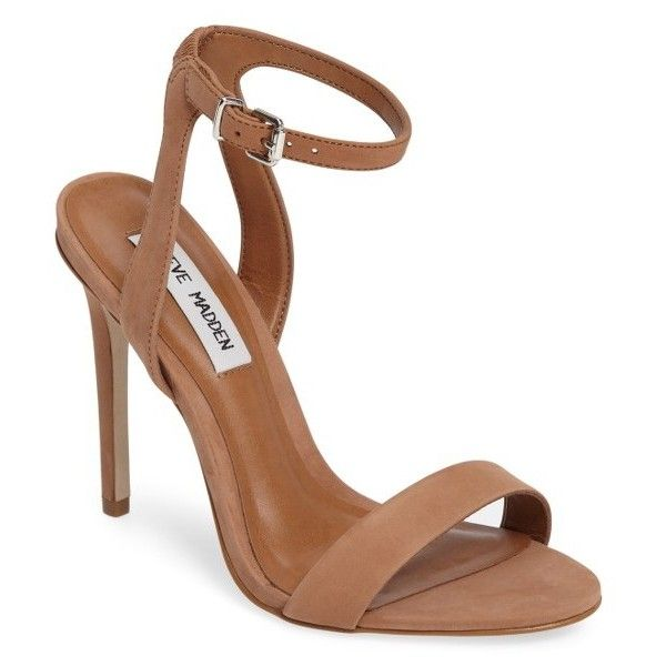 Women's Steve Madden Landen Ankle Strap Sandal ($90) ❤ liked on Polyvore  featuring shoes