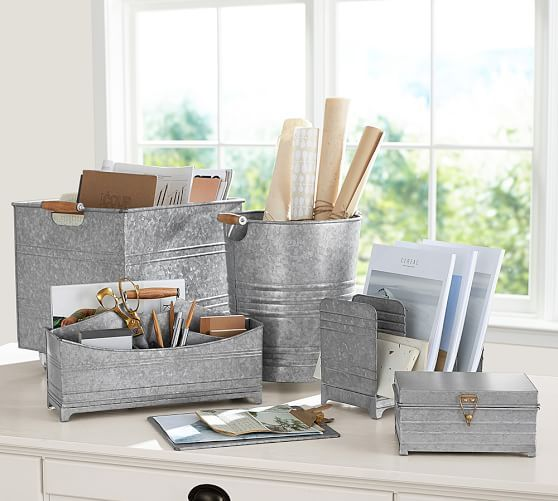 Craft Room   From Pottery Barn: Galvanized Accessories