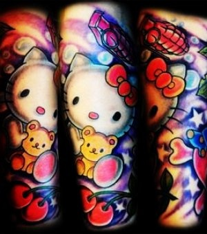17 best images about hello kitty tattoos on pinterest for Hello kitty tattoo sleeve