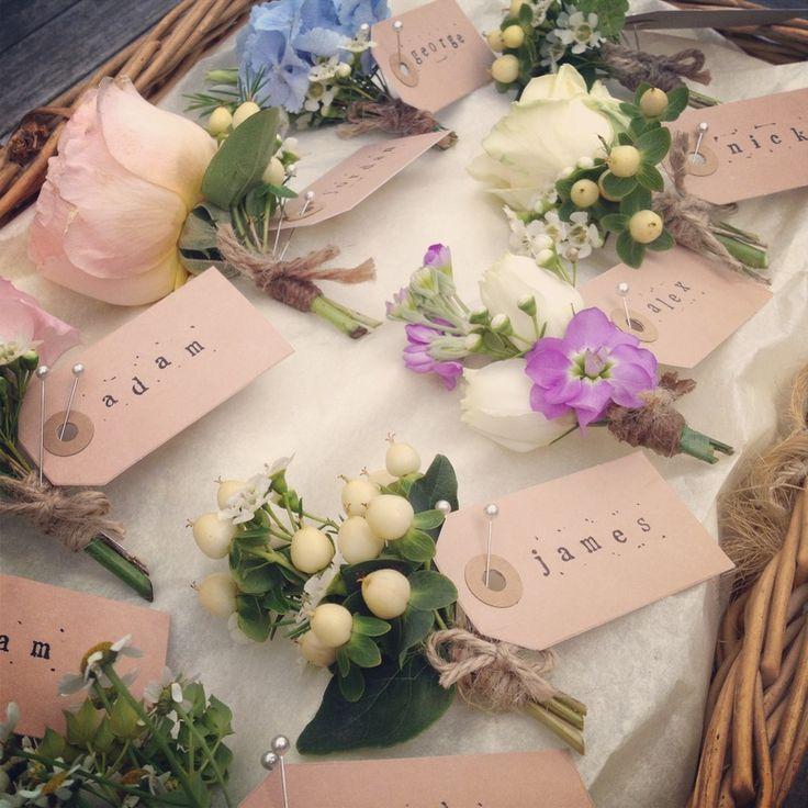 Weddings - Wessex Flower Company. Buttonholes