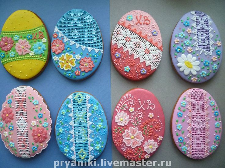 """Russian Easter cookie art - """"needlepoint"""" icing"""