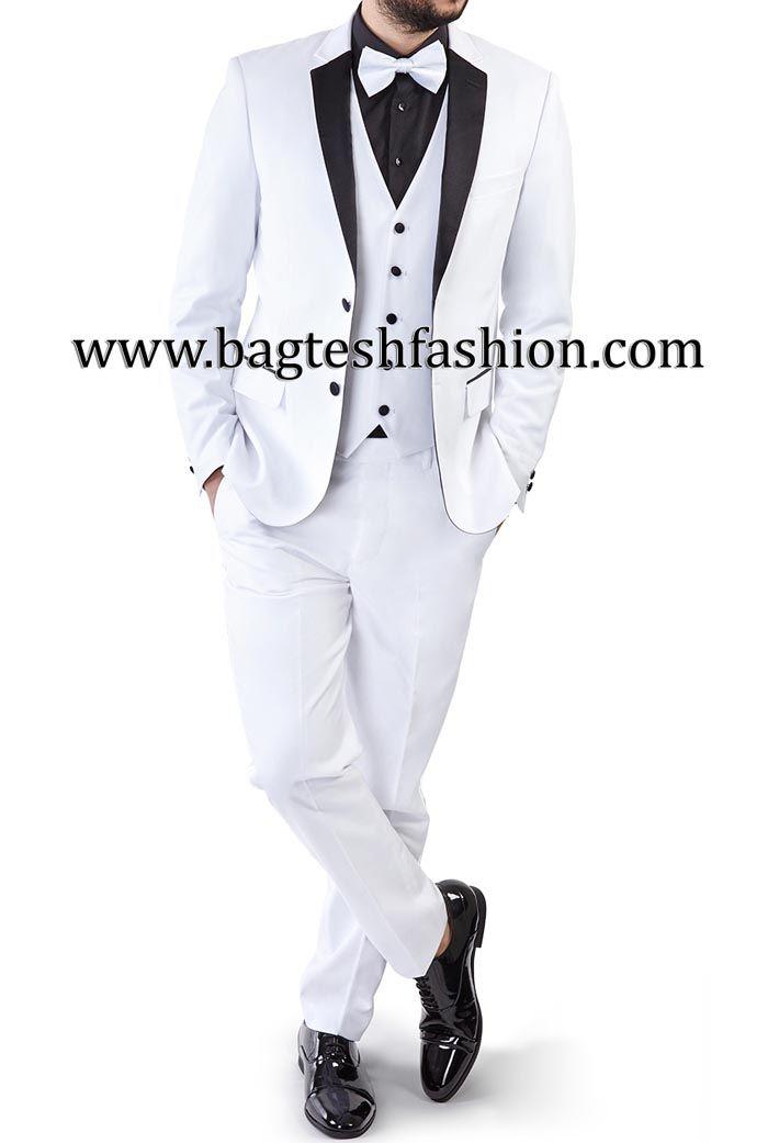 Two Button White Wedding Tuxedo Suit