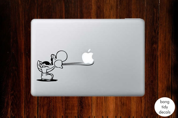 Yoshi MacBook Decal! :D