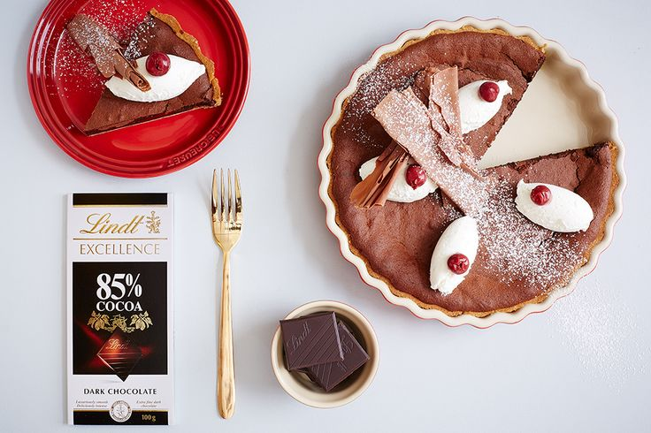 Blackforest Chocolate Tart - LINDT EXCELLENCE recipe crafted in collaboration with Le Creuset