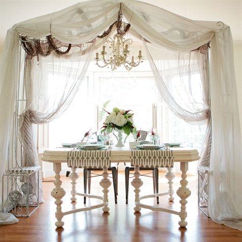 Vintage Victorian Wedding Reception Antique Reception