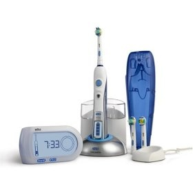 Oral B Triumph electric toothbrush love it, the timer is a great visual for all of us to ensure we are brushing long enough!
