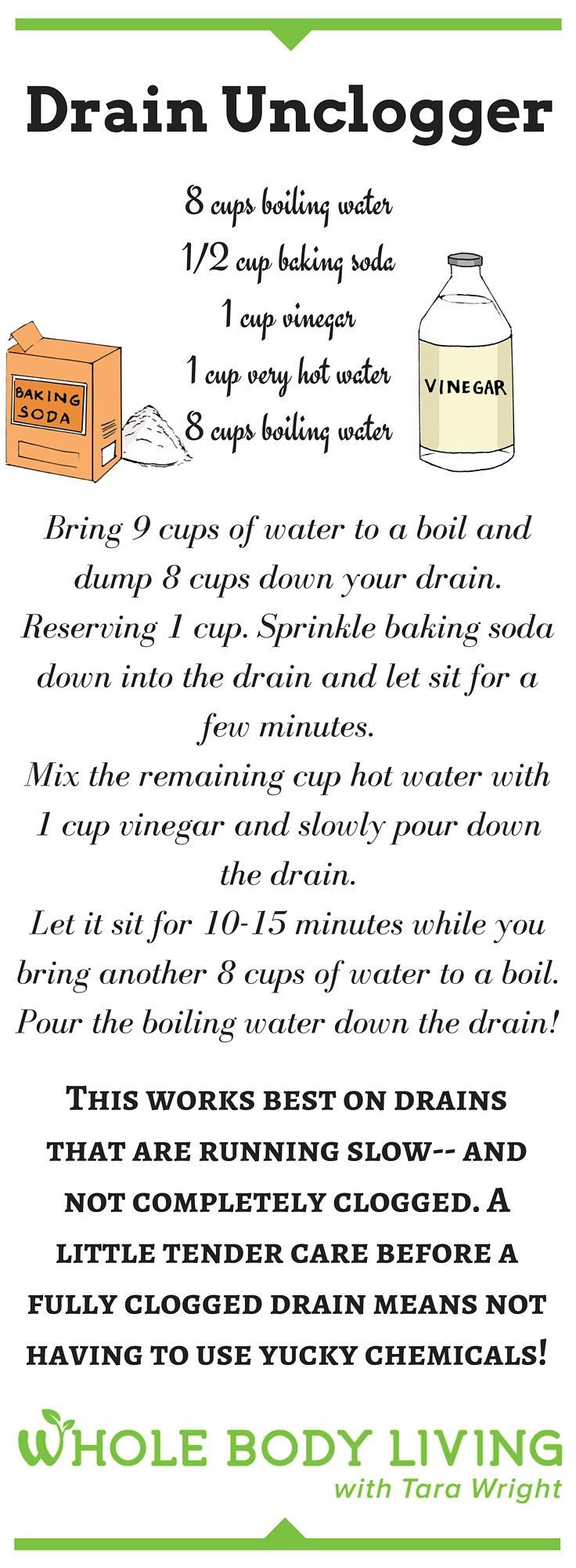 DIY Drain Unclogger. Clogged DrainsUnclog Bathtub ...