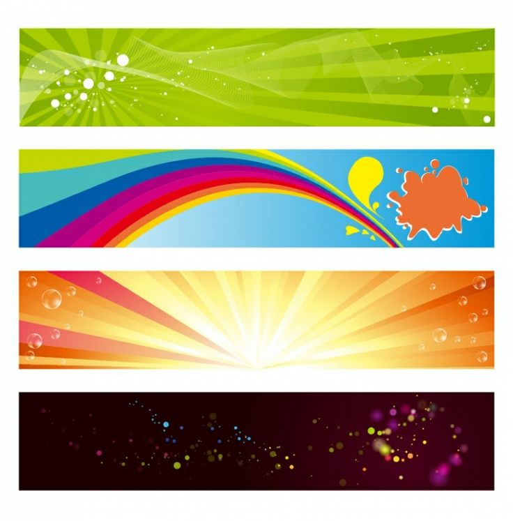 BANNER / Free vector Vector banner Vector Horizontal Banners Set