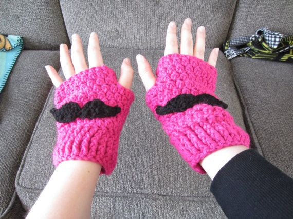 Markiplier Mustache Fingerless Gloves by FanDelights on Etsy