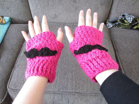 Markiplier Mustache Fingerless Gloves by FanDelights on Etsy