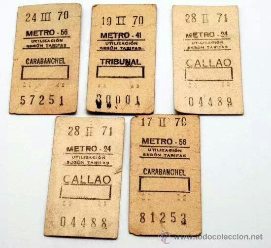 Metro de madrid! Estos billetes de metro los recuerdo con nostalgia :-))