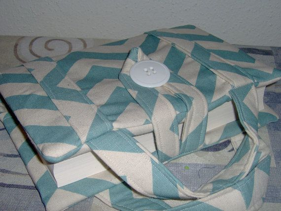 Beautiful Chevron Blue Bible Cover with Handles  by Pleasingtodeye, $30.00